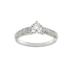 Round Cathedral CZ Ring