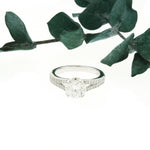 Round CZ Split Band Ring