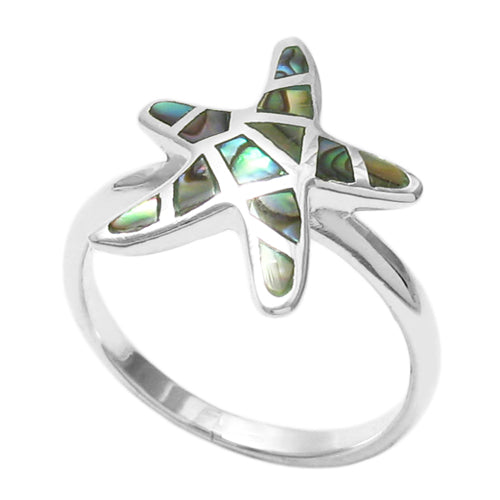 Abalone Starfish Ring