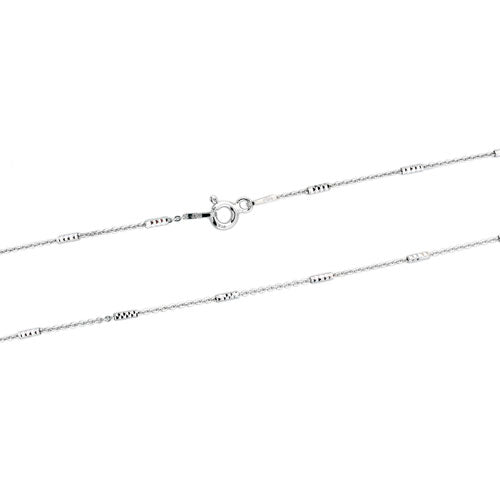 Rhodium Tube Chain