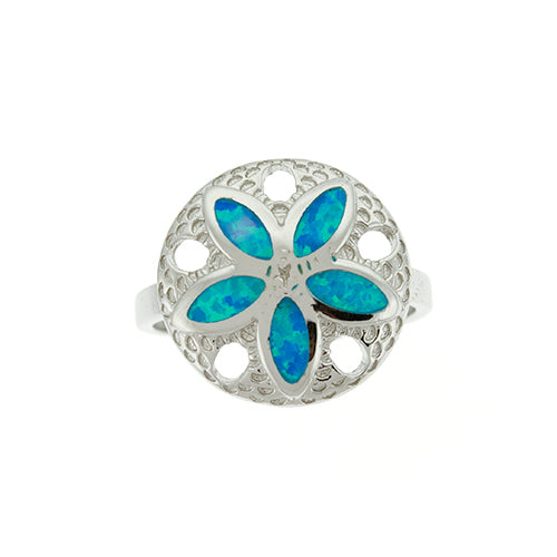 Blue Opal Sand Dollar Ring