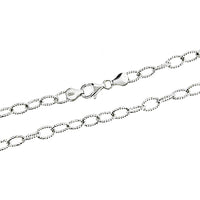 Rhodium 5.5mm DC Rolo 140 Chain
