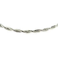 Rhodium 6mm Spring Chain