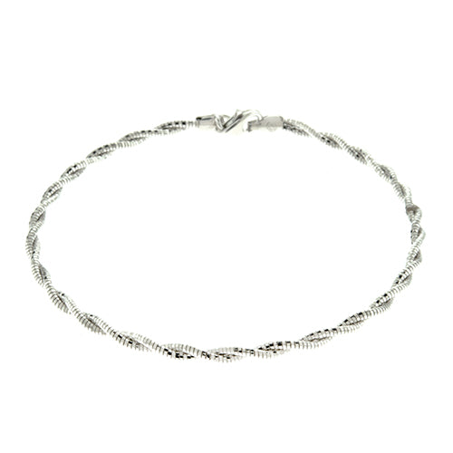Rhodium 2mm Spring Chain