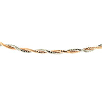 Rose Gold 2mm Two Tone Spring Chain