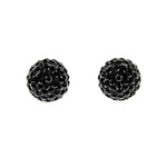 Black CZ Pave Ball Studs
