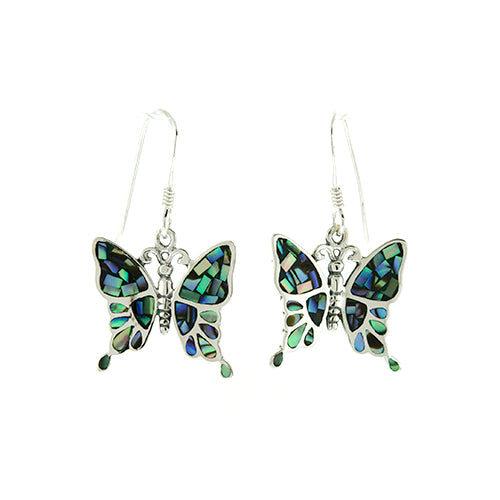 Abalone Butterfly Earings