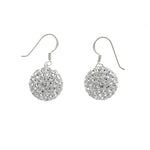 CZ Pave Ball Earrings