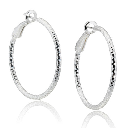 2mm Diamond Cut Snap Back Hoops