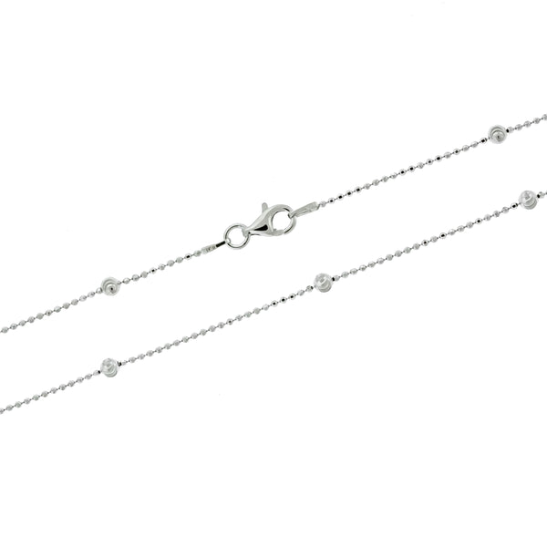 Rhodium Satellite Bead Chain