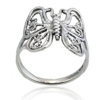 Wire Butterfly Ring