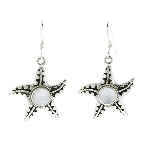 Moonstone Starfish Earrings