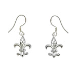 CZ Fleur de Lis Earrings