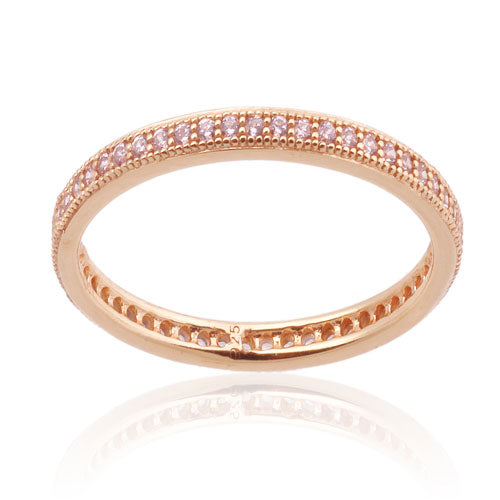 Rose Gold Micro Pave Band