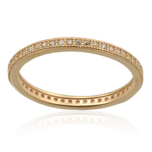 Gold Vermeil Micro Pave Band
