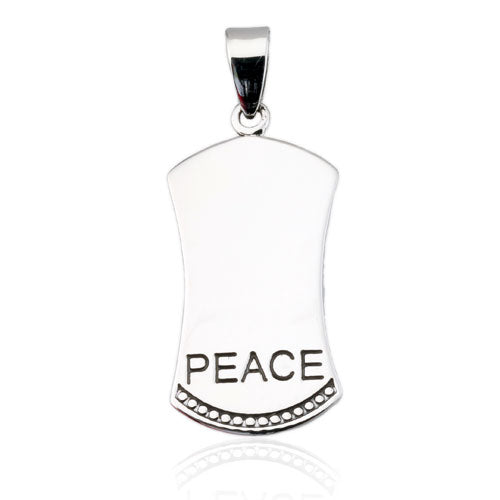 Peace Long Tag Pendant