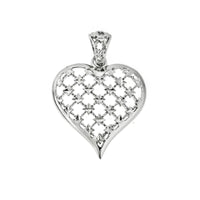 Checkered Filigree Heart Pendant