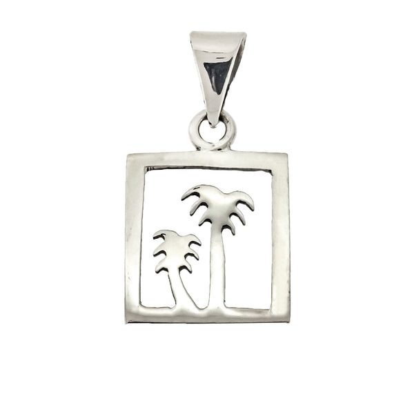 Square Palm Tree Pendant