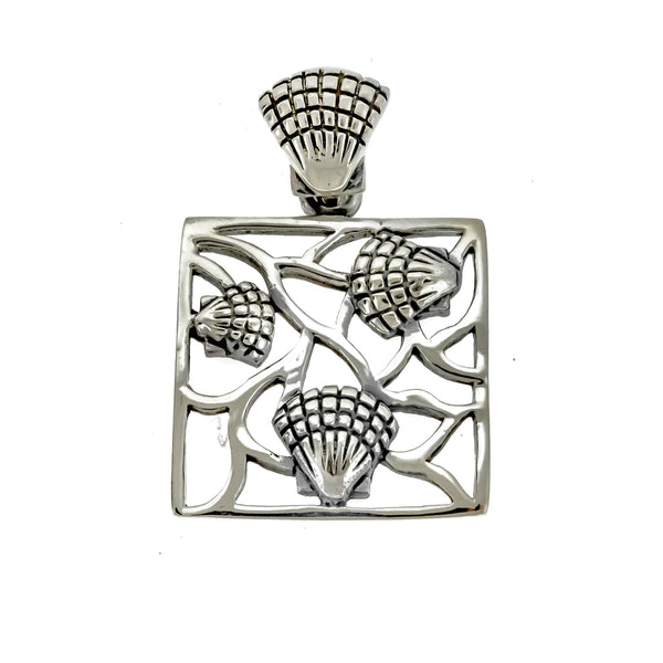 Square Seashell Pendant
