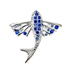 Blue CZ Stingray Pendant