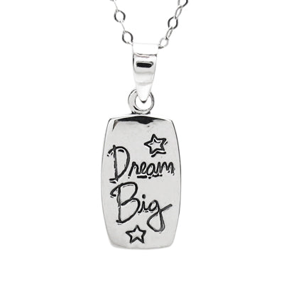 Dream Big Rectangle Pendant