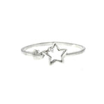 CZ Heart and Star Ring