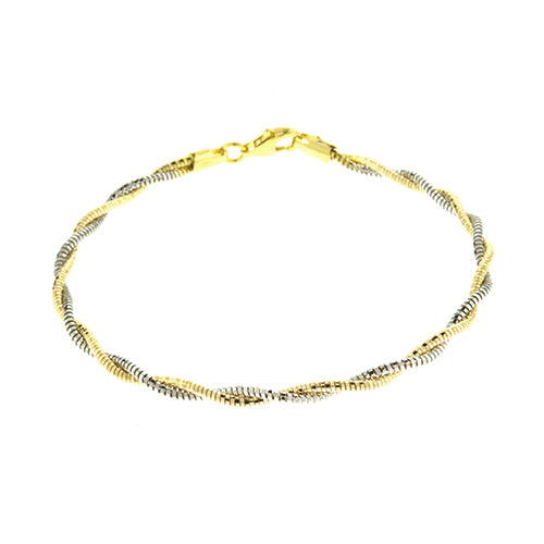 Gold Vermeil 2mm Two Tone Spring Chain