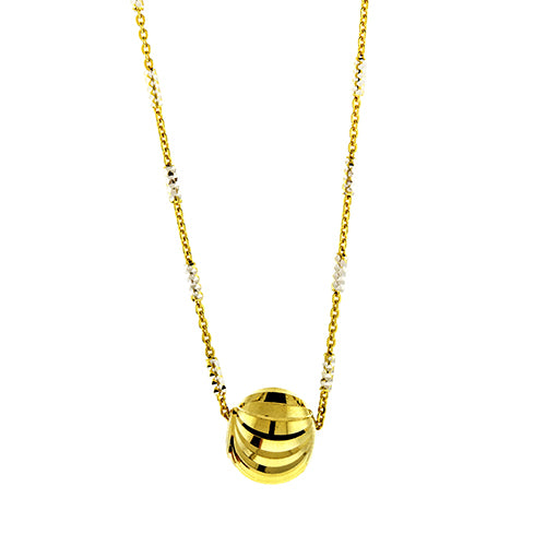 Gold DC Bead on Chain