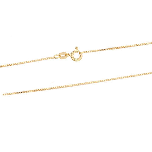 0.8mm Gold Vermeil DC Box 015 Chain