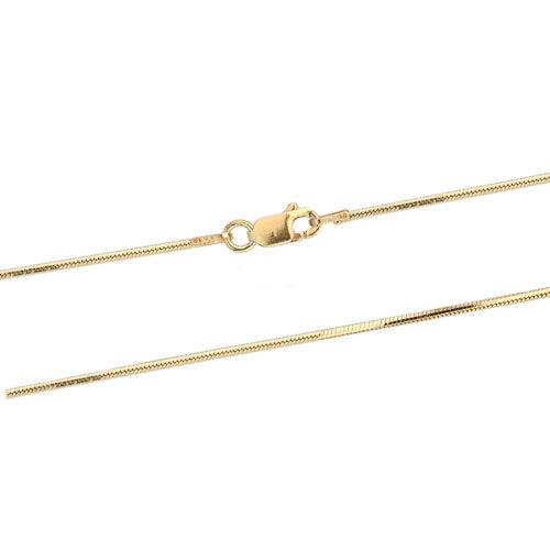 1.2mm Gold Vermeil DC Snake 030 Chain