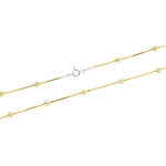 Gold Vermeil DC Snake and Bead Chain