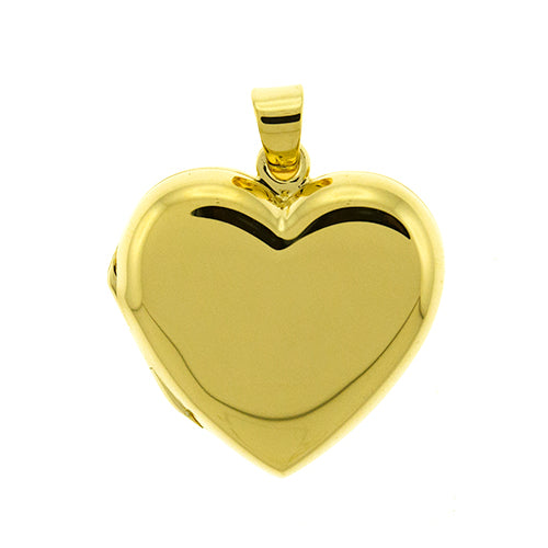 Gold Vermeil Heart Locket Pendant