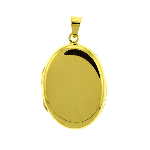 Gold Vermeil Oval Locket Pendant