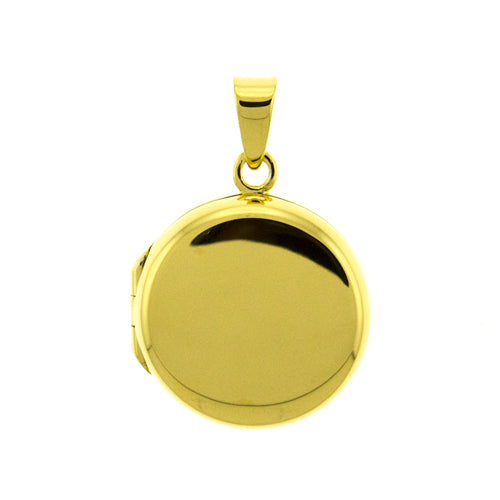 Gold Vermeil Round Locket Pendant