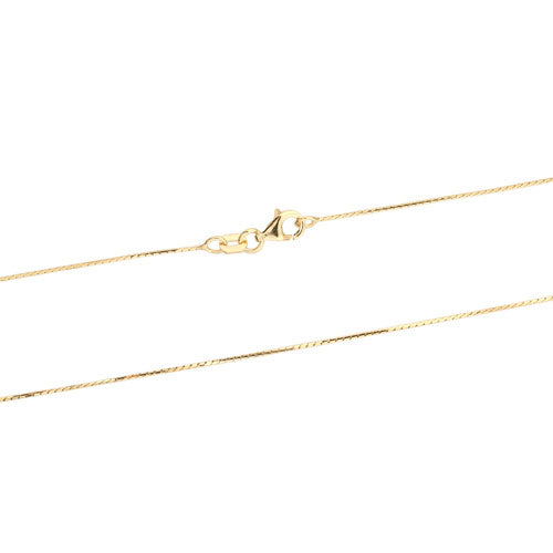 Gold Vermeil Mirror Box Chain