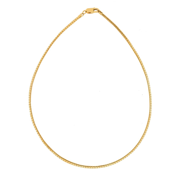 Gold Vermeil 4mm Omega Necklace
