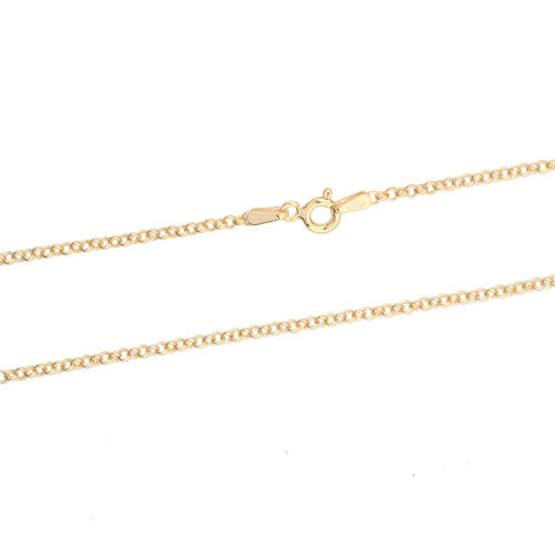 2mm Gold Vermeil Rolo 030 Chain