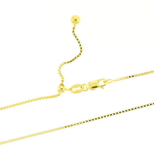 Gold Vermeil Adjustable Box Chain