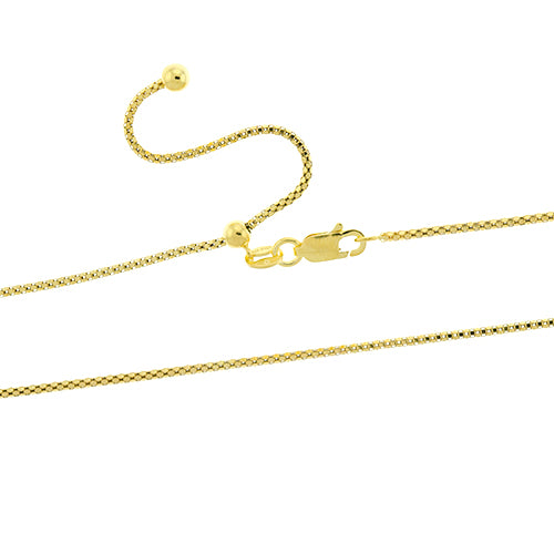 Gold Vermeil Adjustable Popcorn Chain