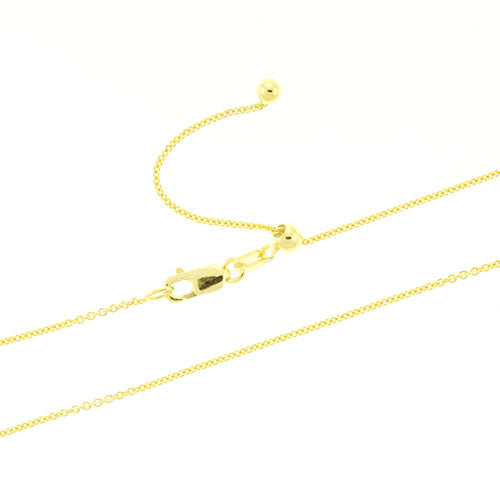 Gold Vermeil Adjustable Rolo Chain