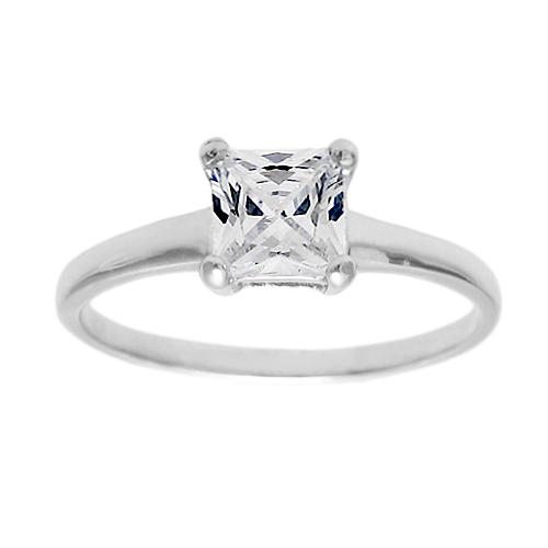 6mm Diamond Birthstone Ring - April