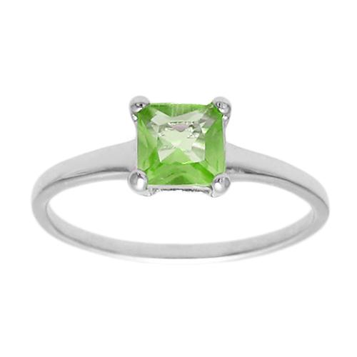 6mm Peridot Birthstone Ring - August