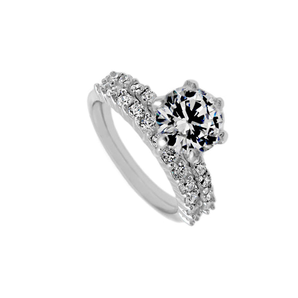 Channel Set CZ Wedding Set