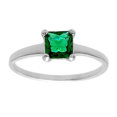 6mm Emerald Birthstone Ring - May
