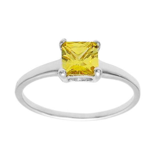 6mm Yellow Topaz Birthstone Ring - November