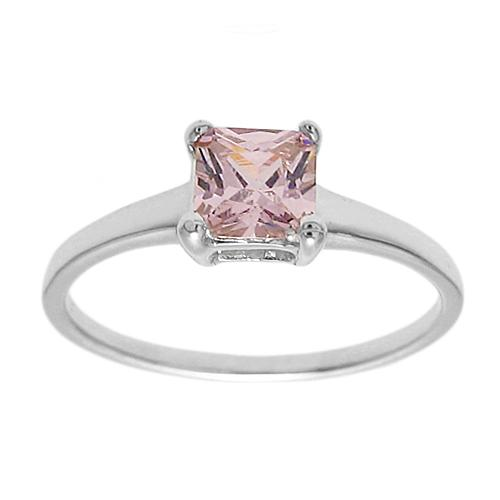 6mm Pink Tourmaline Birthstone Ring - October