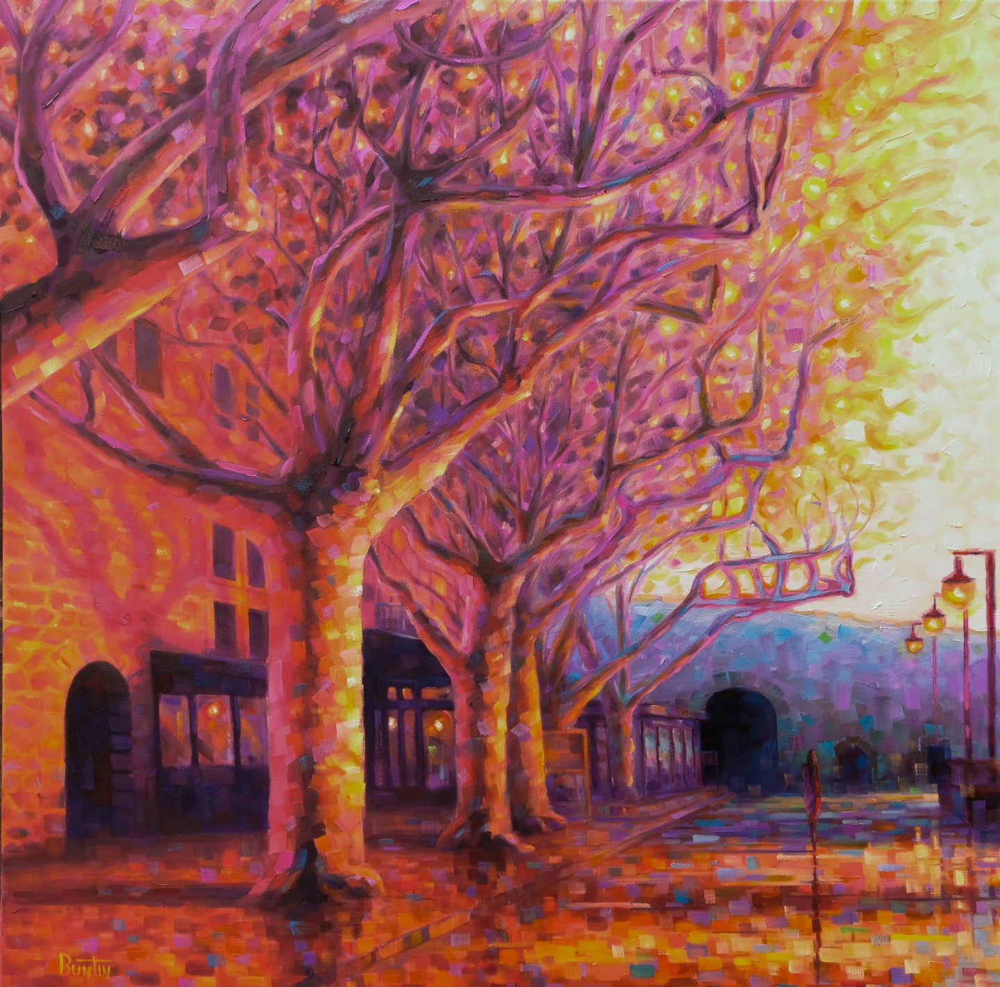 A Walk in Collioure - Original 28x28in