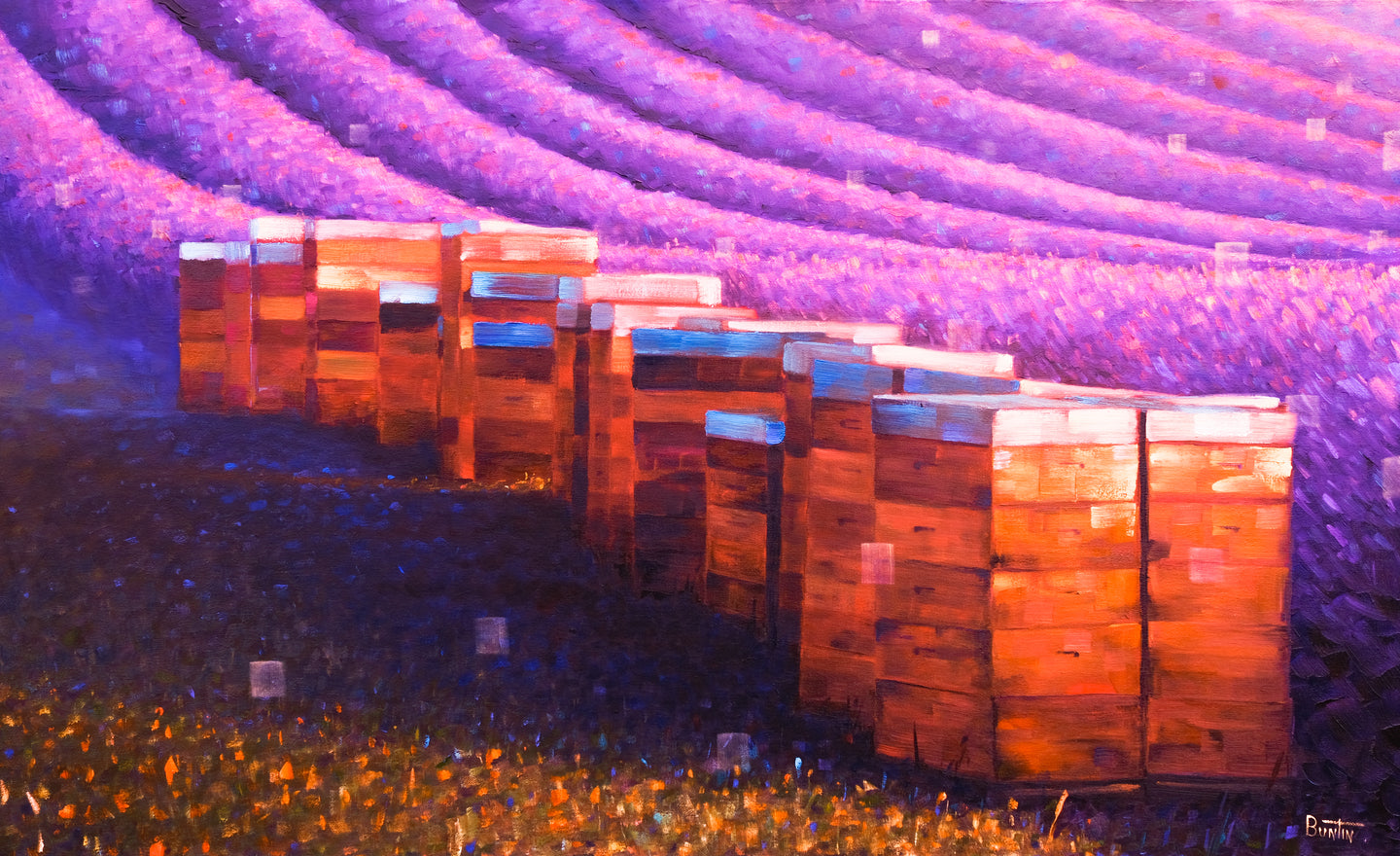 Beehives of Provence - Original 22x36in
