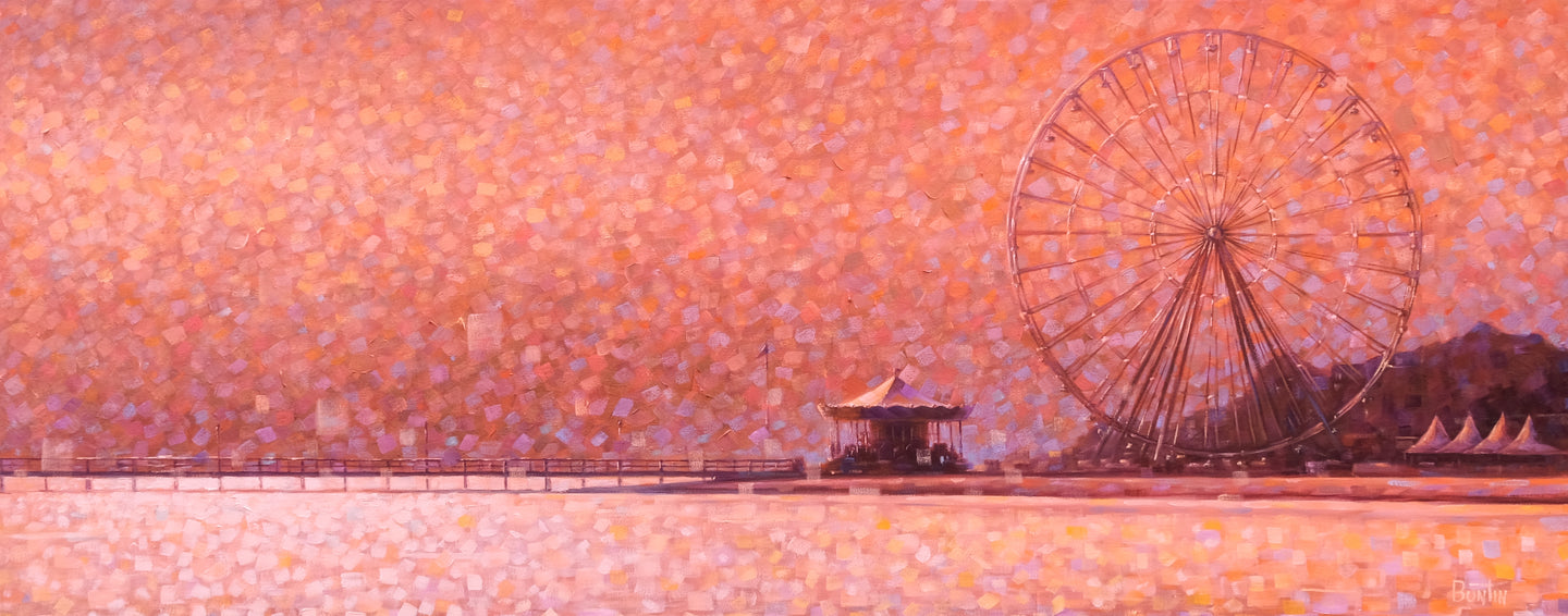 Carousel of Arcachon - Original 39x16in