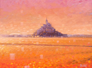 Mont Saint Michel - Original Oil on Canvas 12x16in